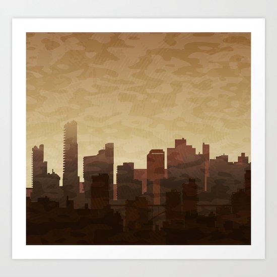 City skyscrapers Art Print