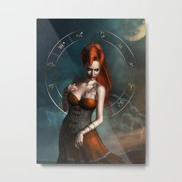 Zodiac Scorpio Metal Print