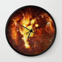 cosmic lion Wall Clock