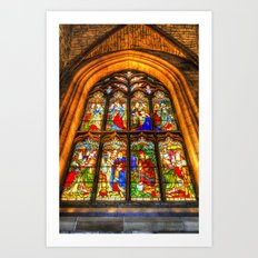 Stained Glass Window Art Print