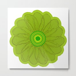 Green flower Metal Print