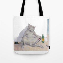 Drunk Kitty Tote Bag