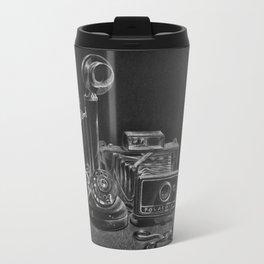 Vintage Polaroid Camera Still Life Travel Mug