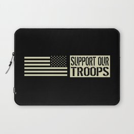 U.S. Military: Support Our Troops Laptop Sleeve
