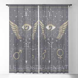 Le Jugement or The Judgement Tarot Sheer Curtain