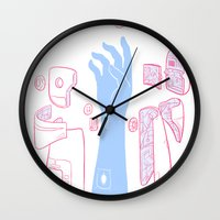 android Wall Clocks featuring Android Arm by mike bautista