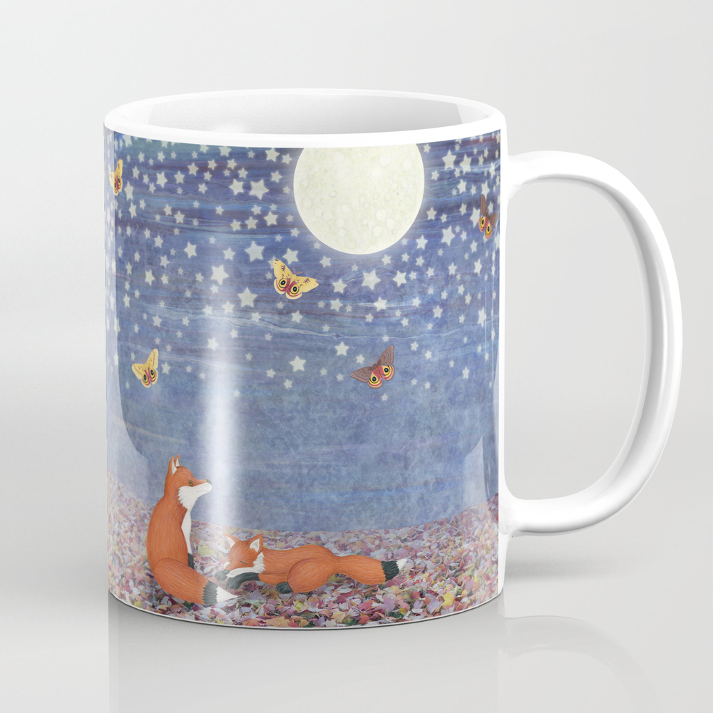 Moonlit Foxes Coffee Cup by Sarahknight MUG4438939