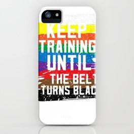 Black Belt Tshirt Martial Art Training Karate Tae Kwon Do iPhone Case
