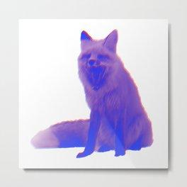 Glitchy Fox pt.2 Metal Print