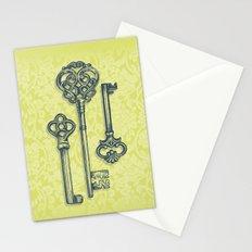 Three Skeleton Keys Stationery Cards