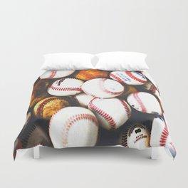 baseballs Duvet Cover