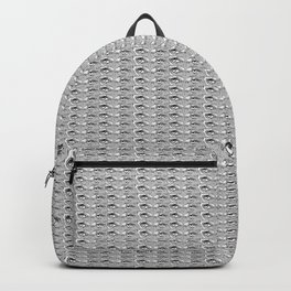 Steve Buscemi's Eyes Tiled Pattern Comic Black and white Backpack