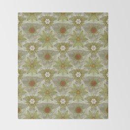 Vintage English Garden Pattern Throw Blanket