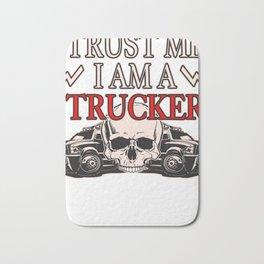 trucker gift truck long-distance truck lorry truck Bath Mat