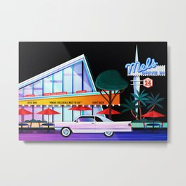 Mel's on Sunset Metal Print