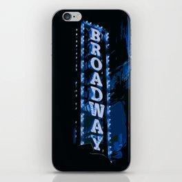 Broadway at Night iPhone Skin