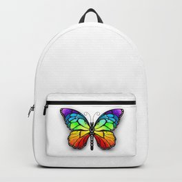 Rainbow Monarch Butterfly Backpack