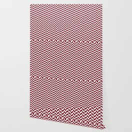 Burgundy Red Herringbone Pattern Wallpaper