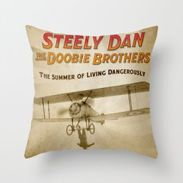 STEELY DAN SUMMER OF LIVING DANGEROUSLY TOUR DATES 2019 RISOL Throw Pillow