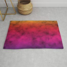 stunning multicolored rainbow clouded sky design Rug