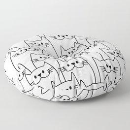 Find the sad cat Floor Pillow