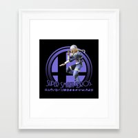 smash bros Framed Art Prints featuring Sheik - Super Smash Bros. by Donkey Inferno
