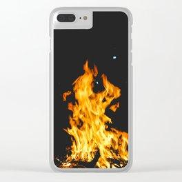 Fire Art Clear iPhone Case