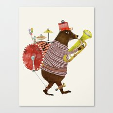 one bear band Canvas Print