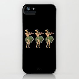Beautiful Hula Girl Dancing the Hula BLK iPhone Case
