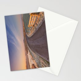 I - Typical Dutch landscape with a dike, in winter at sunrise Stationery Cards