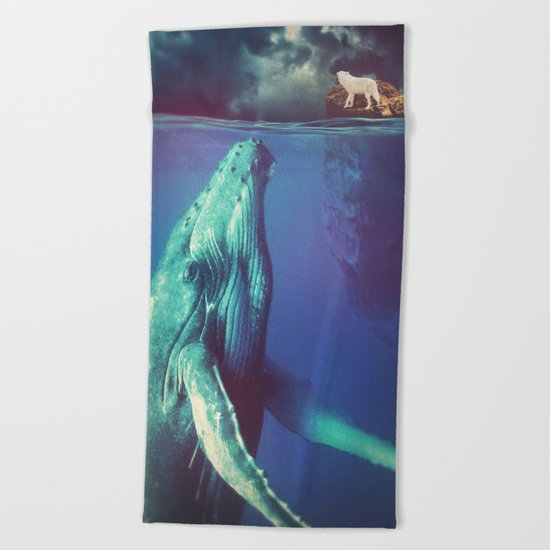 The Whale and the Wolf Beach Towel