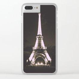 Vintage Style Paris Clear iPhone Case