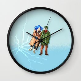 Eternal Sunshine of the Spotless Mind - Pixel Art - Wide Wall Clock