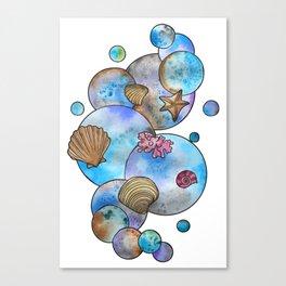 Bubbly Beach Canvas Print
