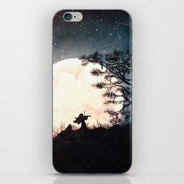 Serenading The Moon (Art Print) iPhone Skin