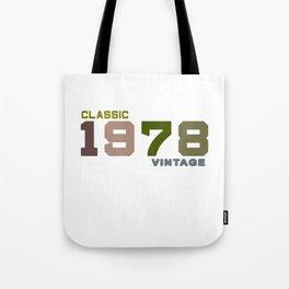 41th Birthday Gift Vintage 1978 T-Shirt Men Women Tote Bag