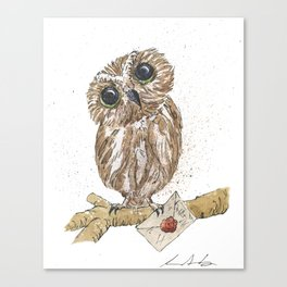 Owl Letter For You Canvas Print