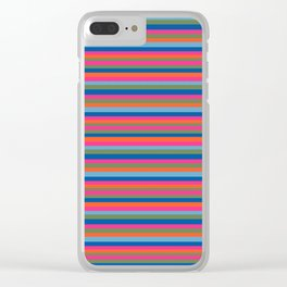 Fall Candy Stripes Clear iPhone Case