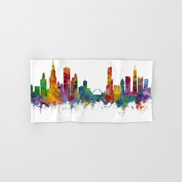 Chicago Illinois Skyline Hand & Bath Towel