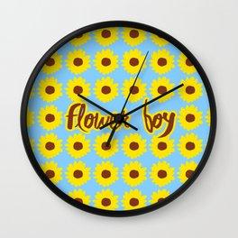 Sunflower Boy Wall Clock