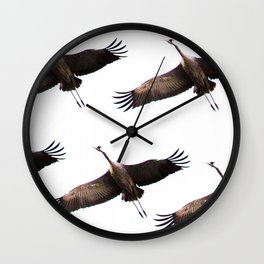 Cranes in flight #decor #society6 Wall Clock