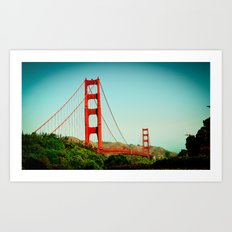 The Golden Gate Bridge at Day Art Print