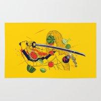 kill bill Area & Throw Rugs featuring Kill Fruit by Calvin Wu