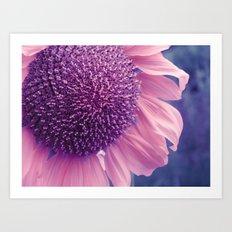 pastel sunflower Art Print
