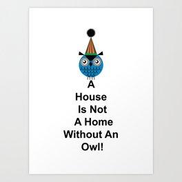 A House Owl Art Print