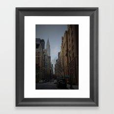 NY bluff Framed Art Print