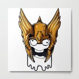 Whoa Viking Scary Metal Print