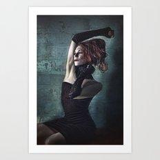 Grunge Moll Art Print