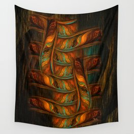 Abstract Totem Wall Tapestry