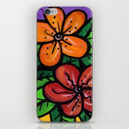 Whimsical Impatien Flowers iPhone Skin